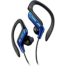 Clip Style Headphone Blue Lightweight and Comfortable Ear Clip. Splash Proof Water resistant Powerful Sound with Bass Boost JVC HAEB75BA