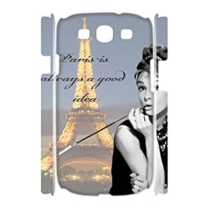 Audrey Hepburn Quotes DIY 3D Cover Case for Samsung Galaxy S3 I9300,personalized phone case ygtg-780272