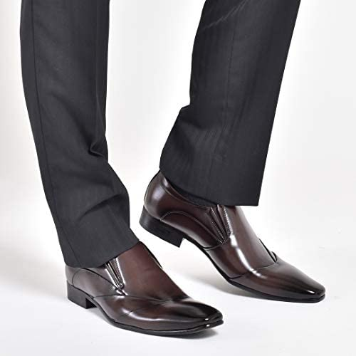 スリッポン メンズ ビジネスシューズ 革靴 皮靴 紳士靴 男性の 結婚式 新郎 フォーマル 通勤