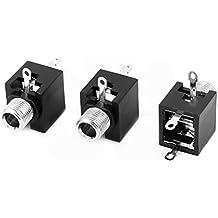 Ugtell 3 Pcs PCB Mount 3 Terminals 3.5mm Female Audio Vedio Jack Socket Connector