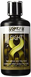 MiCkey T Eight 32oz- BEST MCT OIL ON AMAZON! 100% Pure C-8 Caprylic Acid MCT- NOT A BLEND - The ONLY Made in USA-Kosher- 8-Carbon MCT Oil from Coconut/Palm Kernel