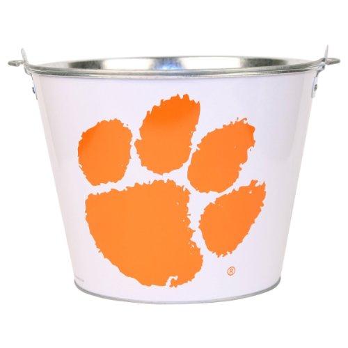 Clemson Tigers Metal Beer Bucket - White