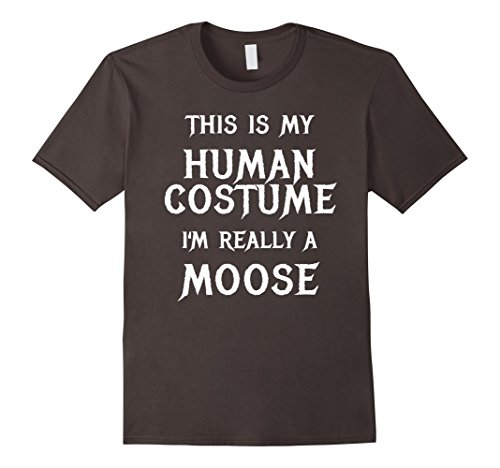 Male Moose Costume (Mens I'm Really a Moose Halloween Costume Shirt Easy Funny XL Asphalt)