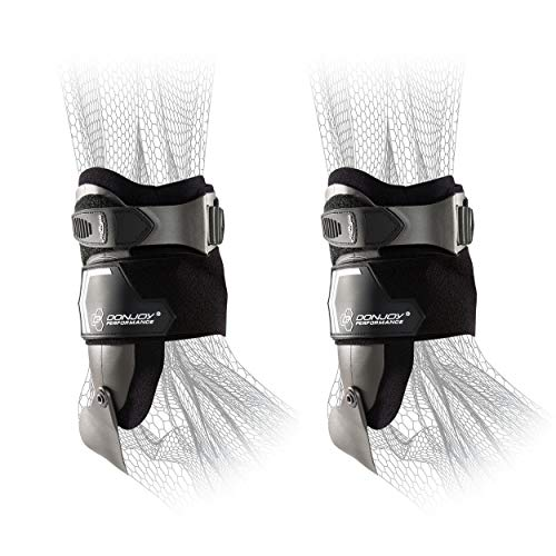 DonJoy Performance Bionic Stirrup Ankle Braces (Right and Left Pair, Choose Your Size), Maximum Medial Lateral Ankle Support, Low-Profile Rigid Brace, Adjustable – Black, Medium – Value Bundle