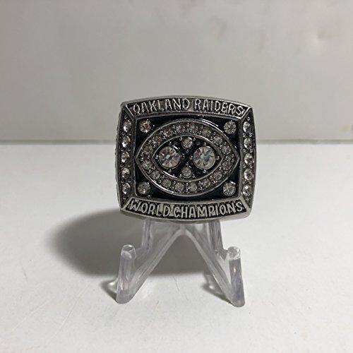 MVP Jim Plunkett Oakland Raiders High Quality Replica 1980-81 Super Bowl XV Championship Ring Size 10-Silver US SHIPPING