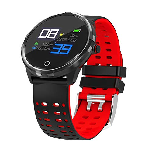 Hemobllo T3 Pulsera Actividad Impermeable con Pulsómetro Podómetro Pantalla Color (Rojo)