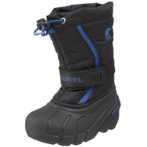 4c7d2e0c330 Sorel Flurry TP Winter Boot (Toddler/Little Kid/Big Kid),Black/Bright  Blue,5 M US Big Kid