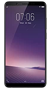 "New Vivo V7+ Unlocked Dual SIM (4G+4G) 5.99"" Fullview Display- 4GB RAM- 16MP Primary+24MP Front Facing Camera- BLACK- 64GB"
