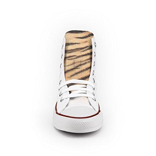 Converse All Star Personnalisé et Imprimés - chaussures à la main - produit Italien - Tiger Eyes