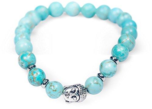 (Jewelry Yoga Healing Buddha Charm Bracelet Tiffany Blue Beaded Good Energy Zen Meditation Bracelets)