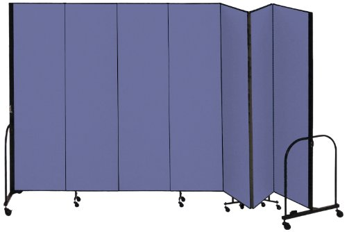 (Screenflex Commercial Portable Room Divider (CFSL687-DB) 6 Feet 8 Inches High by 13 Feet 1 Inches Long, Designer Blue Fabric)