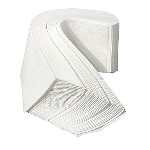 Polytree 100pcs Non Woven Facial Body Hair Removal Paper Depilatory Epilator Wax Strip White - Non Woven Waxing