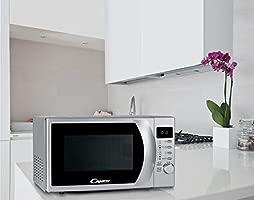 Candy CMG 2071 DS, Microondas con display Digital, 8 Programas Automáticos, 700 W, 20 L, Silver