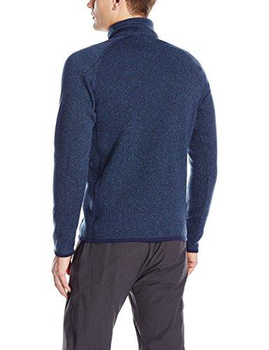 41QwIO8ClCL - Patagonia Men's Better Sweater 1/4 Zip Classic Navy Sweatshirt XL