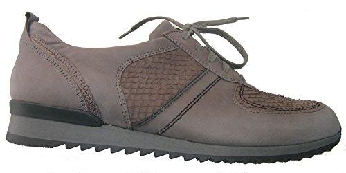 Waldläufer Kvinna Dagdrivaren För Läder-skor Grå