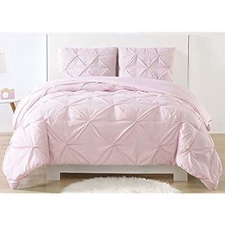 My World Printed Pinch Pleat Kids Comforter Set, Full/Queen, Aqua Gingham