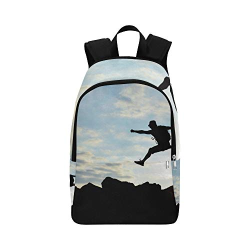 HTJZH Jumping Girl at Sunset Casual Daypack Travel Bag College School Backpack for Mens and Women