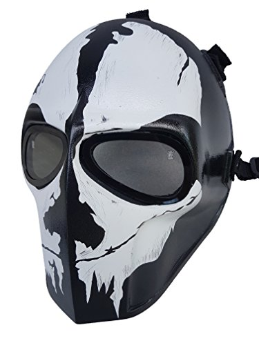 Mandalorian Costume Pattern (Invader King ® GHOST Army of Two Airsoft Mask Protective Gear Outdoor Sport Fancy Party Ghost Masks Bb Gun)