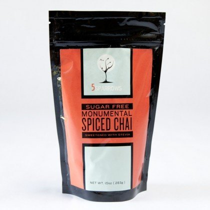 - Sugar Free Monumental Spiced Chai, Naturally Sweetened with Stevia & Erythritol (Erythritol-Blend, 10 oz)