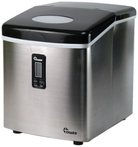 CHARD IM-12SS Ice Maker with LCD Display, 35 lb., Stainless Steel by Chard