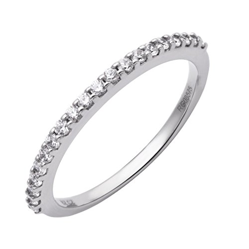 14k White Gold Wedding Diamond Band Ring (1/4 Carat)