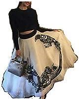 Hirva Collections Women's Georgette Lehenga Choli (Sonam Kapoor Cholis_Black And White_Free Size)