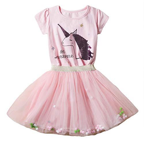 Little Girls Tutu Dress Sleeveless Infant Toddler Sundress Tulle Skirt 2pc Summer ()