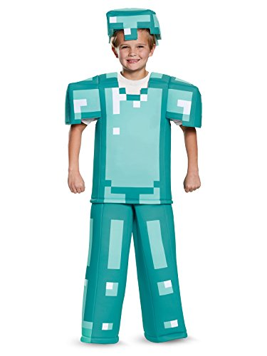 Minecraft Steve Halloween Costume (Armor Prestige Minecraft Costume, Multicolor, Medium)