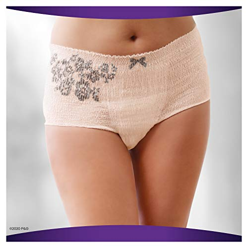 Always Discreet Boutique, Incontinence Underwear for Women, Maximum Protection, Small/Medium, 12 Count