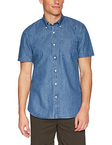Amazon Brand - Goodthreads Men's Standard-Fit Short-Sleeve Denim Shirt