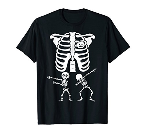 Twins Dabbing Floss T-Shirt Pregnancy Skull Dab Dance Mom for $<!--$19.99-->
