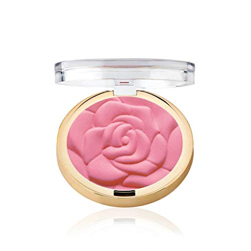 (Milani Rose Powder Blush - Tea Rose (.6 Ounce) Cruelty-Free Blush that Shapes, Contours and Highlights Face with Matte or Shimmery Color)