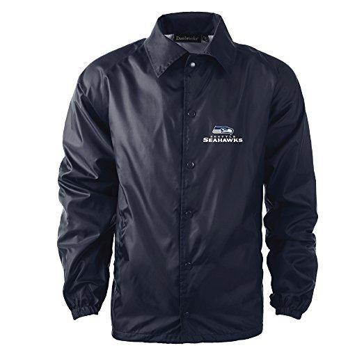 - Dunbrooke Apparel NFL Seattle Seahawks Men's Coaches Windbreaker Jacket, 2X, Navy