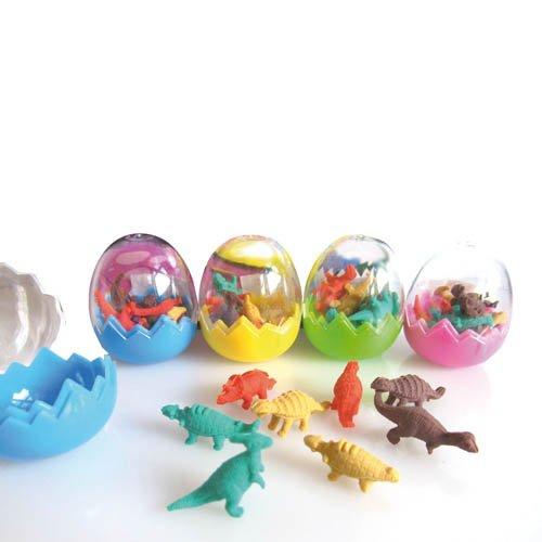Geschenkartikel Dino Radiergummi im Ei, 8 Radierer - Kindergeburtstag Mitgebsel Tombola