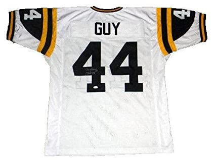 new arrival 75892 2663b Ray Guy Autographed Jersey - Miss #44 Throwback - JSA ...