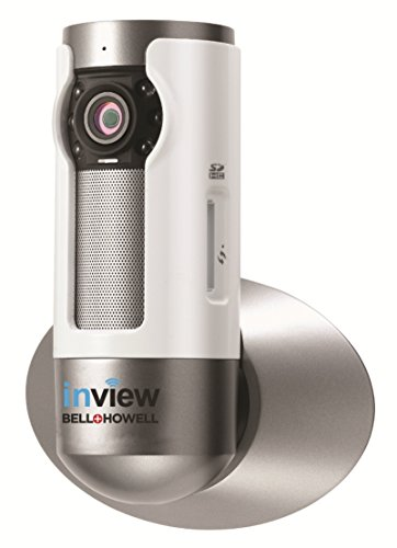 Bell+Howell InView HD H.264 Wall Mountable Wi-Fi IP Camera with Cloud Recording, 10x Zoom, IR LED Night Vision and Live View (C-IP109)
