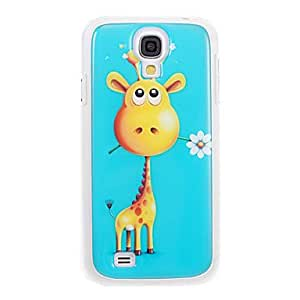 DUR Giraffe with Flower Pattern TPU Smooth Gel Face High Quality Back Case Cover for Samsung Galaxy S4 I9500