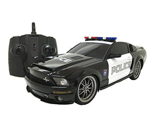 OFFICIALLY Licensed Electric Full Function 1:18 Ford Mustang Shelby GT500 Super Snake Police RTR RC Car (Colors May Vary) by XQRC18-4PAA-1184