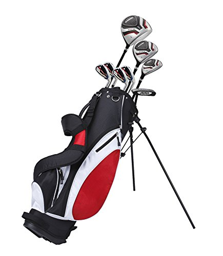 Precise Teenager Complete Golf Set Includes Titanium Driver, S.S. Fairway, S.S. Hybrid, S.S. 7-PW Irons, Putter, Stand Bag, 3 H/C's Teen Ages 13-16 Right Hand & Left Hand Available! (Right Hand)