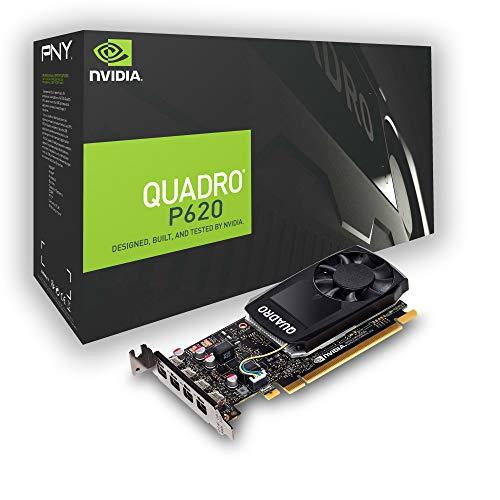 PNY Quadro P620 Professional grafische kaart 2GB GDDR5 PCI Express 3.0 x16, Single Slot, 4x Mini DisplayPort, 5K…