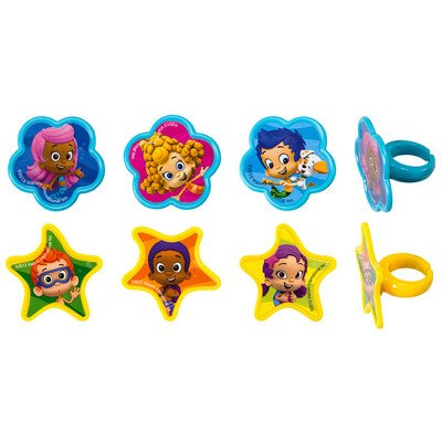 Quantumchaos 1 X 24 ~ Bubble Guppies Cupcake Rings ~ Designer Cake/Cupcake Topper ~ New!!!!! -