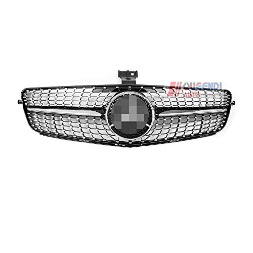 (BODIN Diamond Grille for Mercedes Benz C-Class w204 C200 C250 C300 08-14 (Black))