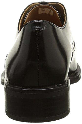 ECCO Chelsea 20, Zapatos de Cordones Oxford para Mujer Negro (BLACK1001)