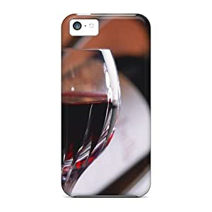 Awesome FollowHeart Defender Tpu Hard Case Cover For Iphone 5c- Red Wine Glass