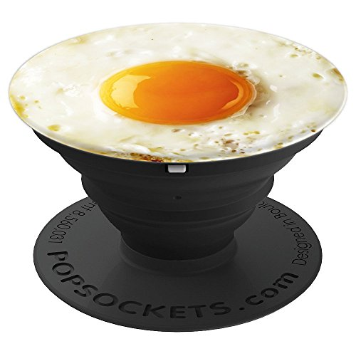 Fried Egg - food, breakfast, funny gag gift, farm, eggs - PopSockets Grip and Stand for Phones and Tablets