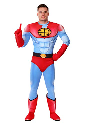 Captain Planet Costume Large Blue
