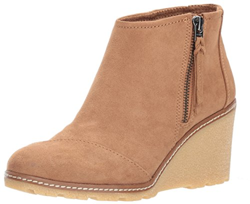 - TOMS Women's Toffee Microfiber Avery Booties 10011039 (Size: 9)