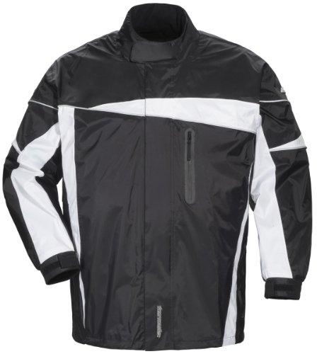 Tourmaster Defender 2.0 Two-Piece Rain Suit (LARGE) (BLACK/BLACK)