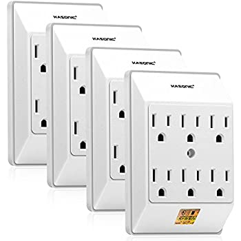 Amazon Com Topele Grounded 6 Outlet Tap Ac Power Wall