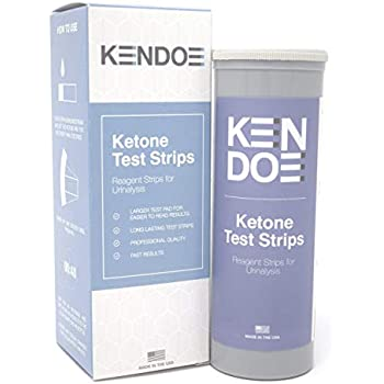 Amazon.com: HK Ketone Test Strips - 100 Urine Strips - Check Ketosis Levels - Track Your Low ...